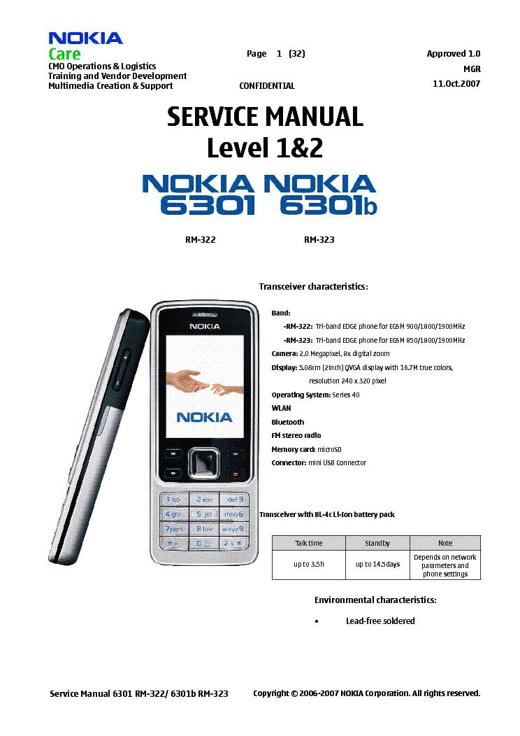 nokia 6301  rm